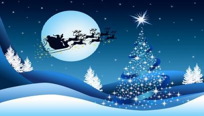 Santas Sleigh Blue
