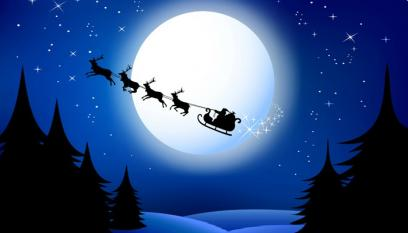 Santas Sleigh Black