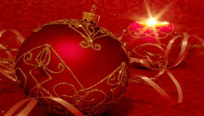 Red Bauble & Candle