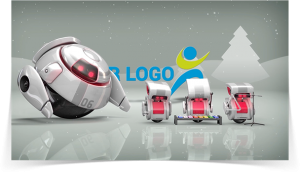 Christmas 3D Robot